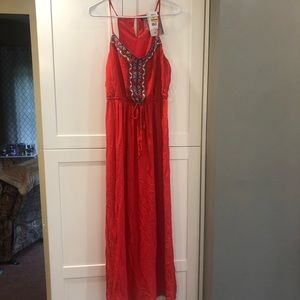 NWT woman's large lily white embroidered maxi